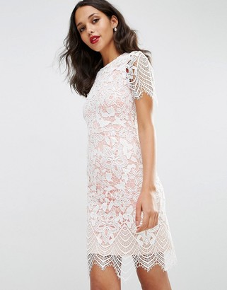 ASOS Bodycon Pencil Dress in Border Lace $83 thestylecure.com