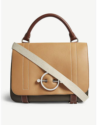 J.W.Anderson Disc leather satchel