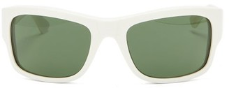 Celine D Frame Acetate Sunglasses - Womens - White