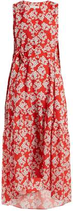 BORGO DE NOR Zelda Bouquet-print crepe dress