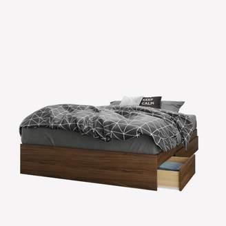 Nexera Cartel 3-Drawer Full Size Storage Bed, Walnut