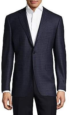 Canali Men's Patterned Wool Sportcoat