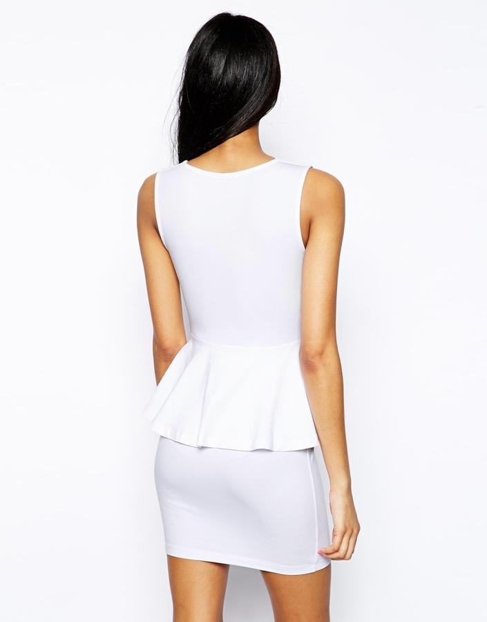 Asos Sweetheart Peplum Mini Dress