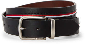 7da90952d07eaa at Century 21 · Tommy Hilfiger Black   Cognac Ribbon Inset Reversible Belt