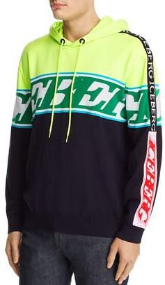 Iceberg Color-Blocked Mixed-Logo Hooded Sweater