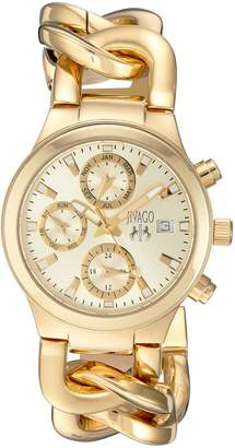 Jivago Women's JV1242 Casual Levley Watch, Gold