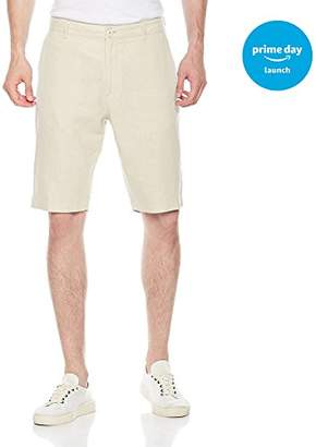 Isle Bay Linens Men's Easy Care Solid Flat-Front Short