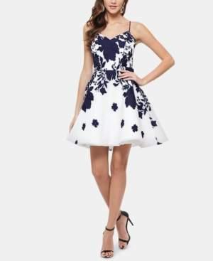 Xscape Evenings Embellished Floral-Print Fit & Flare Dress