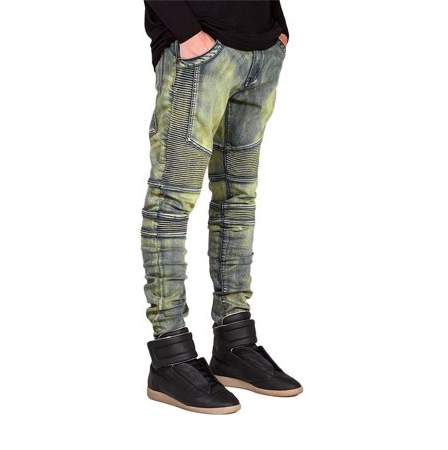 Hillda Comfortable Denim Trousers Elastic Jeans Casual Slim Men Jeans Long Pants Size 34