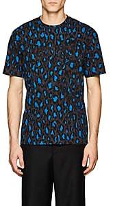 Kenzo Men's Leopard-Print Cotton T-Shirt - Gray