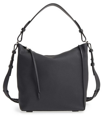 Allsaints 'Kita' Leather Shoulder/crossbody Bag - Black $298 thestylecure.com