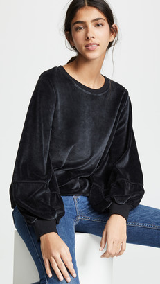 Nation Ltd. Kiera Velvet Lantern Sleeve Top