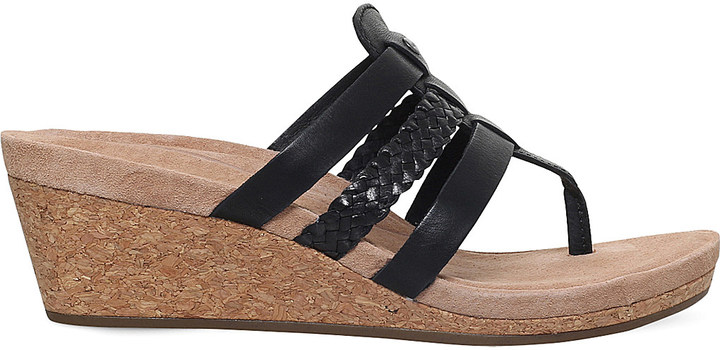 UGGUgg Maddie strappy leather wedge sandals