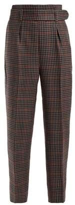 Erdem Nelle Wool Trousers - Womens - Blue Multi