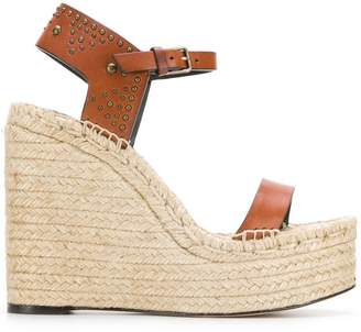 Saint Laurent wedge espadrille sandals