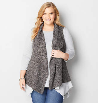 Avenue Marled Sweater Vest