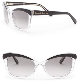 Kate Spade Amara 55mm Cat Eye Sunglasses