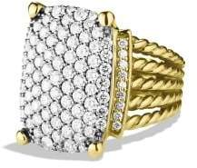 David Yurman Wheaton Ring With Diamonds In 18K Gold