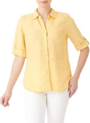 Olsen Glam Safari Classic Linen Shirt