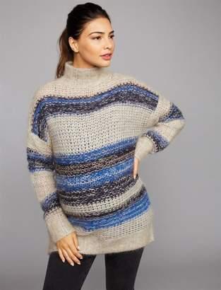 BCBGMAXAZRIA Striped Wool Maternity Sweater