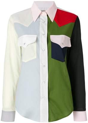 Calvin Klein colour-block western shirt