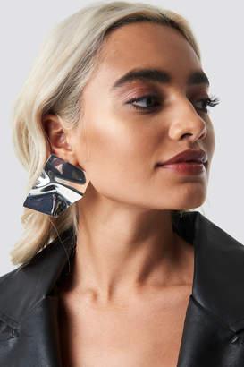 Na Kd Accessories Big Shield Earrings Gold