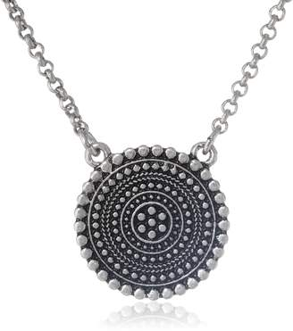 "Lucky Brand Indigo Trail Tribal Pendant Necklace, 16"" + 2"" Extender"