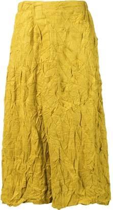 Plantation crease effect skirt
