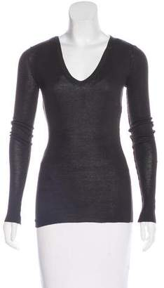 Inhabit V-Neck Long Sleeve Top