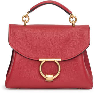 Salvatore Ferragamo Margot Gancino red small bag