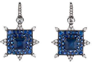 Nam Cho 18K Sapphire & Diamond Drop Earrings