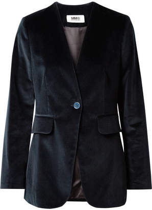 MM6 MAISON MARGIELA Cotton-velvet Blazer - Navy