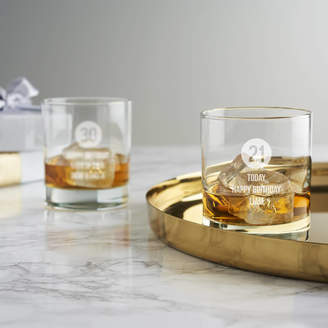 Becky Broome Personalised Special Age Birthday Whisky Glass For Him