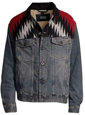 Diesel Black Gold DBG Embroidered Denim Jacket