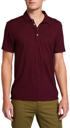 7 For All Mankind Men's Solid Four-Button Polo Shirt