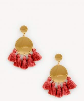 Sole Society Womens Gold Filled Stone Tassel Earring Mauve One Size From Sole Society gUVG2P