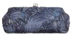Adrianna Papell Chain Strap Embroidery Clutch