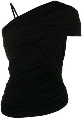 Rick Owens ruched one-sleeve top