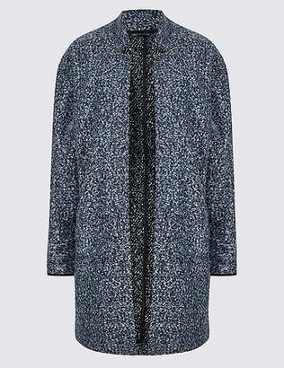 Marks and Spencer Textured Open Front Coat