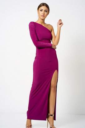 Club L **One Shoulder Maxi Dress