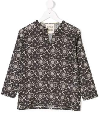 Douuod Kids floral split neck blouse