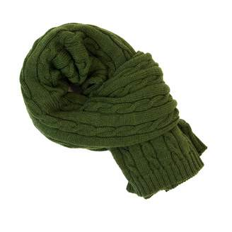 40 Colori - Green Solid Thick Wool Scarf