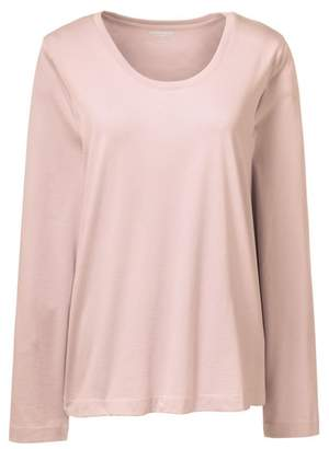 Lands' End Pink Petite Scoop Neck Supima T-Shirt