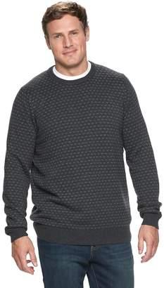 Croft & Barrow Big & Tall Classic-Fit Birdseye 7gg Crewneck Sweater