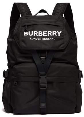 Burberry Wilfin Logo Print Backpack - Womens - Black