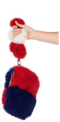 Pandora Popski London Pom Pom Bag - Red-white-blue