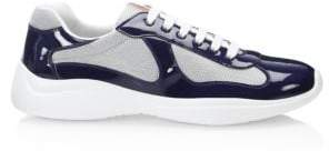 Prada America's Cup Patent Leather Patchwork Sneakers