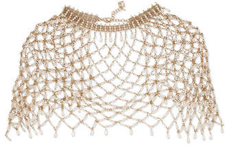 Rosantica Clara Gold-tone Freshwater Pearl Cape - White