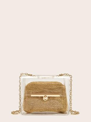 Shein Transparent Chain Strap Crossbody Bag