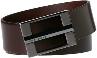 HUGO BOSS Cen Smooth Vegetable Tanned Leather Belt